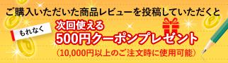 次回使える500円クーポンプレゼント